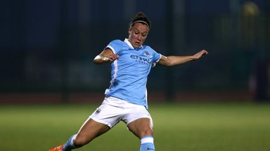 Lucy Bronze in action for Manchester City Women