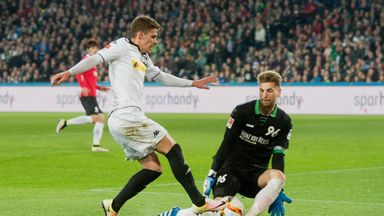 Ron-Robert Zieler (R) looks set for a move to Leicester
