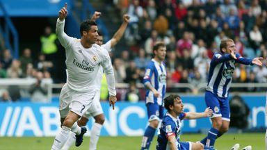 Cristiano Ronaldo celebrates after second goal