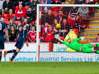 Ross County's Brian Graham opens the scoring with a penalty
