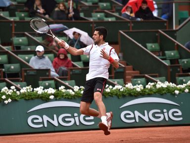 Novak Djokovic lost the first set against Roberto Bautista-Agut in the fourth round