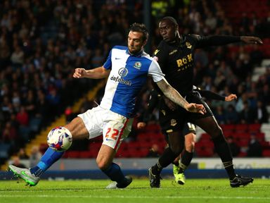 Shane Duffy (l) claimed Blackburn's winner