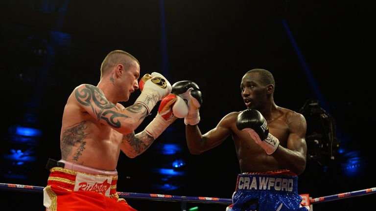 Crawford won a points decision over Burns