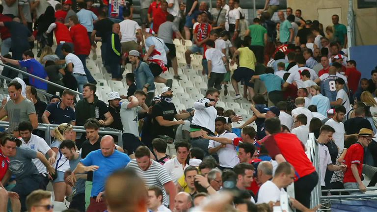 Russian hooligan wanted for savage attack on England fan arrested