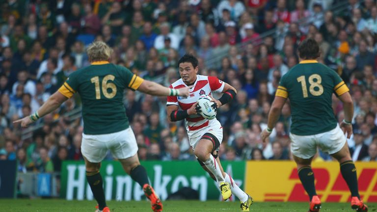 Ayumu Goromaru Goromaru was instrumental in Japan's upset win over South Africa in the 2015 World Cup