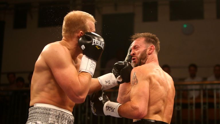 Dmytro Kucher (left) floored Enzo Maccarinelli with a brutal left when they met at York Hall