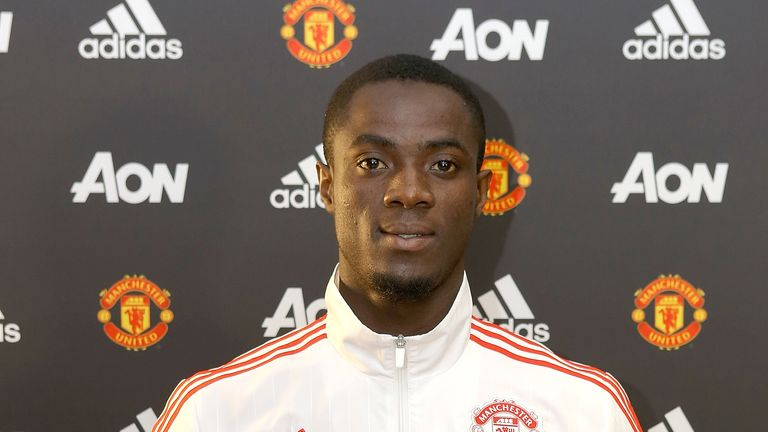 Eric Bailly being unveiled by Manchester United
