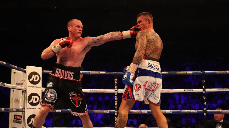 Groves lands a stiff jab on the St Helens man