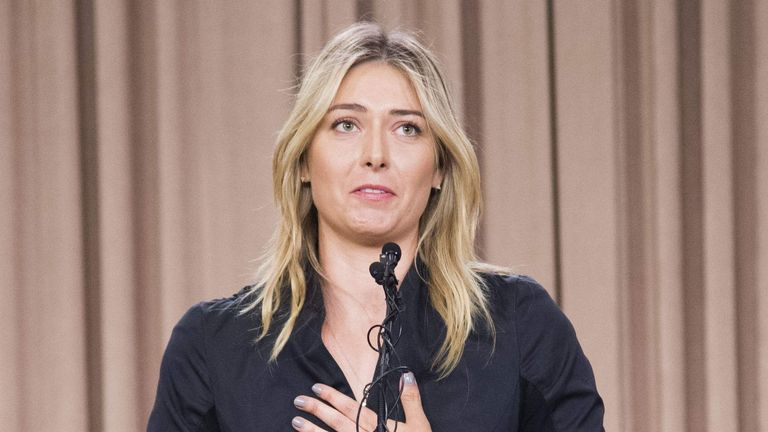 Sharapova tested positive for meldonium at this year's Australian Open