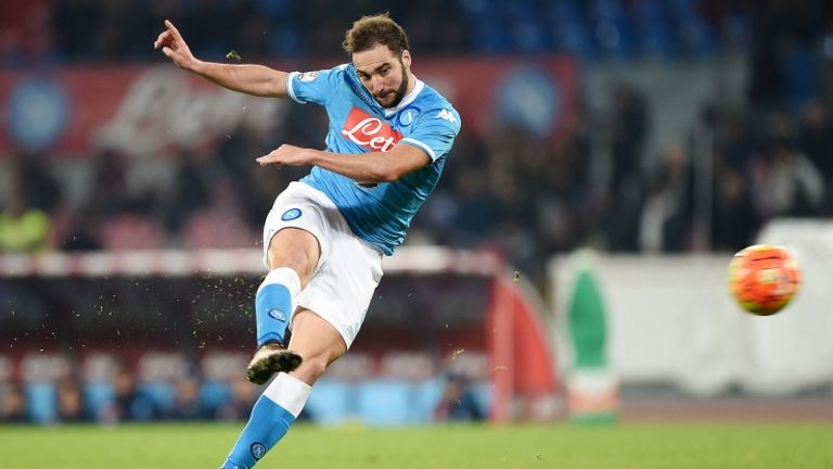Higuain was a prolific scorer for Napoli during his three seasons at the club