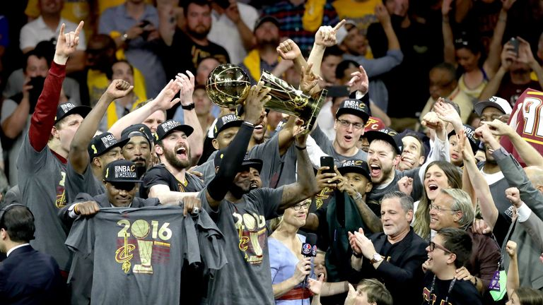 Indians hoping to emulate Cleveland Cavaliers' Larry O'Brien Championship Trophy success