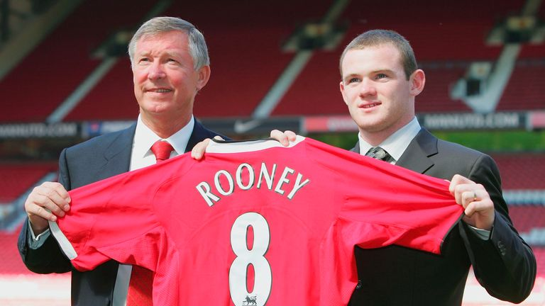 Rooney joined United from Everton in August 2004 for a fee of £30m