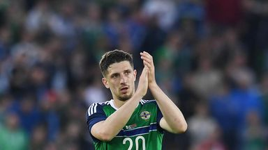 Craig Cathcart is to miss Northern Ireland's World Cup qualifier against Czech Republic  on Sunday due to injury