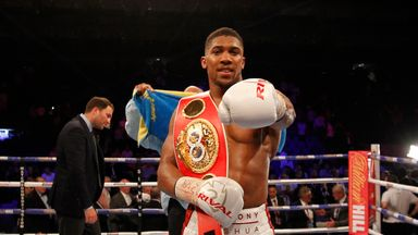 Anthony Joshua is waiting to find out WBA decision
