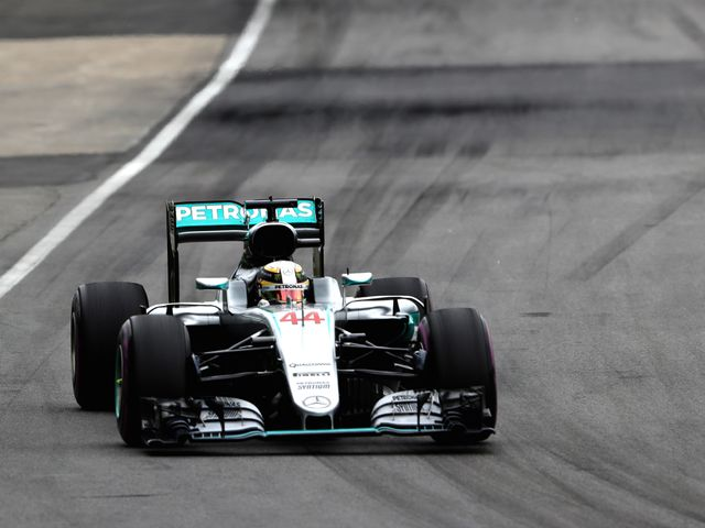 Lewis Hamilton en route to winning the Canadian Grand Prix