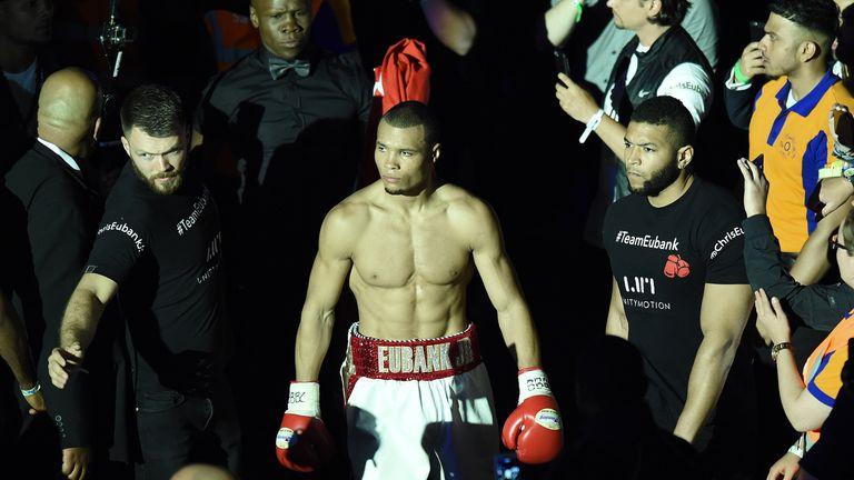 Chris Eubank Jr strides to the ring to dispose of Tom Doran
