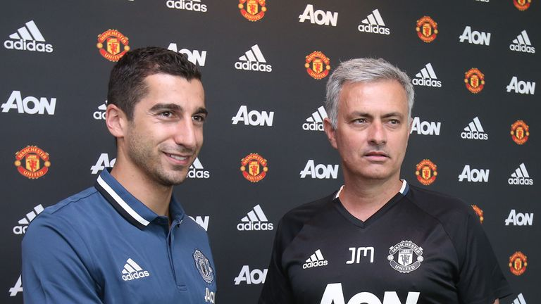 Jose Mourinho believes Henrikh Mkhitaryan (left) will have an immediate impact