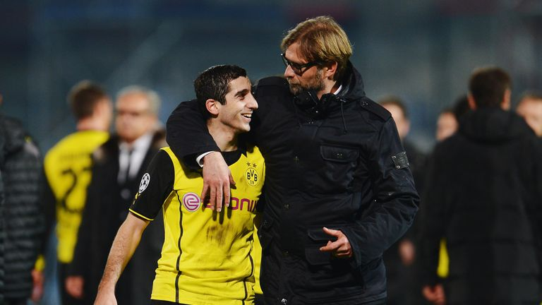 Mkhitaryan played under Jurgen Klopp at Dortmund