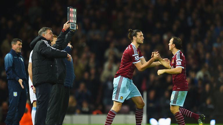 Noble was a regular under Sam Allardyce at West Ham