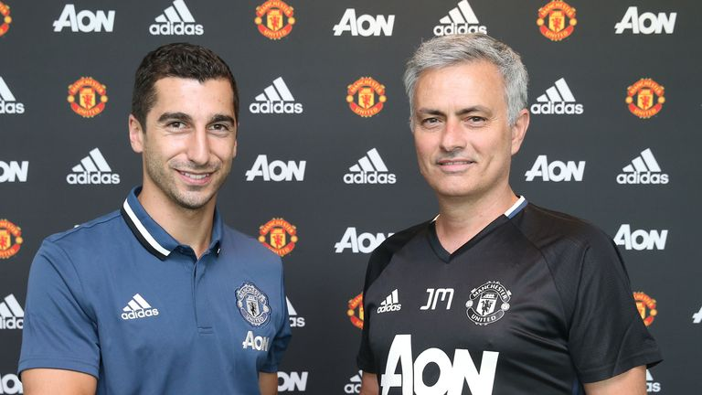 Henrikh Mkhitaryan joined Manchester United in the summer