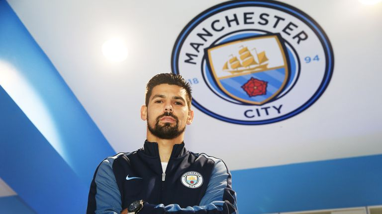 Manchester City's Nolito started on the left wing
