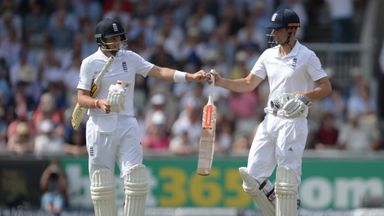 Joe Root (left) and Alastair Cook have been prolific run-scorers for England