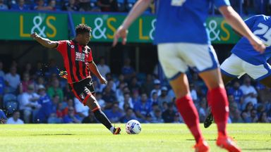 Jordon Ibe scores his first goal for Bournemouth in a pre-season friendly against Portsmouth