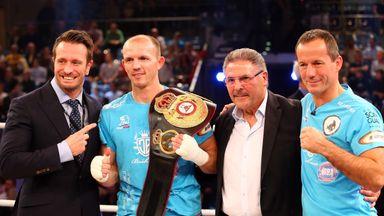 Kalle Sauerland (left) is the promoter of world champion Juergen Braehmer