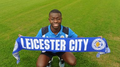Leicester City unveiled Nampalys Mendy at their Belvoir Drive Training Complex on Sunday