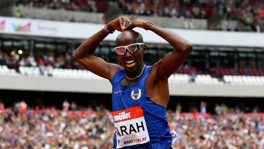 Mo Farah secured a comfortable victory in the 5000m in London