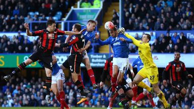 Ryan Fulton (yellow) played for Portsmouth against Bournemouth in the FA Cup last year