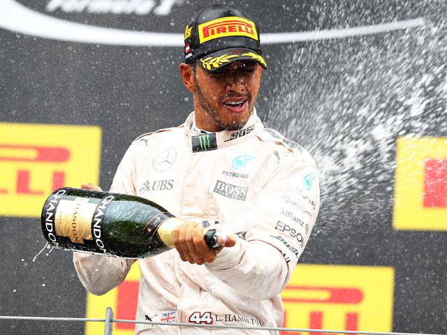 Lewis Hamilton won a dramatic race