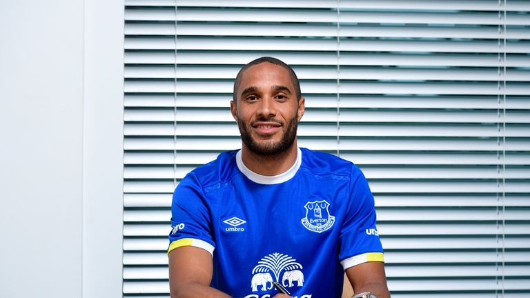 New Everton defender Ashley Williams has joined the club from Swansea