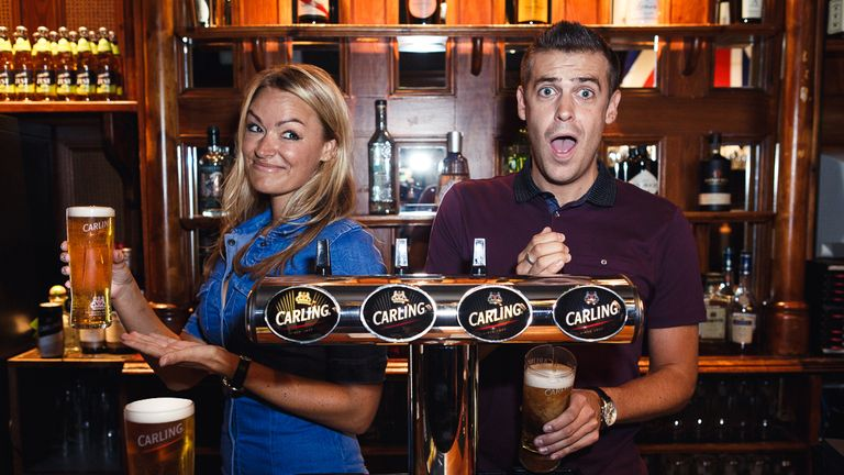 Laura Woods and Adam Smith are back with Carling In Off The Bar