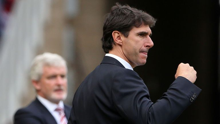 Middlesbrough's Spanish manager Aitor Karanka