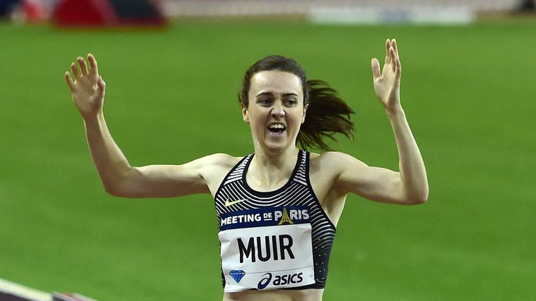 Laura Muir was making her first appearance of the year