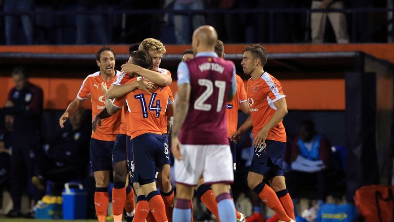 Luton Town beat Aston Villa in last season's first round