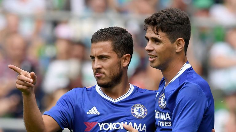 Merson believes Eden Hazard (left) will be key to Chelsea's hopes this season