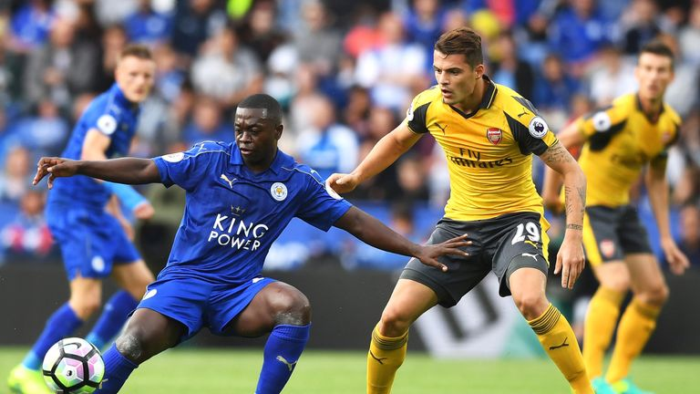 Nampalys Mendy (left) has not played for Leicester since August