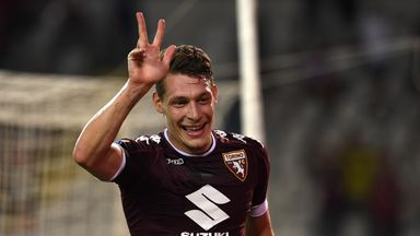 Andrea Belotti hit a hat-trick for Torino in the victory