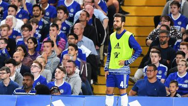 Fabregas has yet to start in the Premier League under Conte