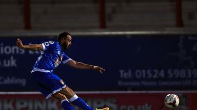 Bournemouth's Marc Wilson scores his side's second goal against Morecambe