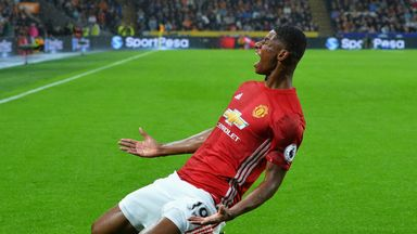 Marcus Rashford scored in stoppage time for Manchester United
