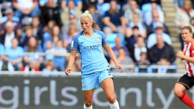 Toni Duggan of Manchester City Women set up the opening goal against Reading
