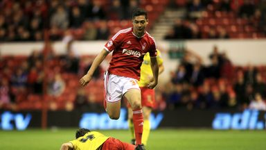 Tyler Walker in action for Nottingham Forest