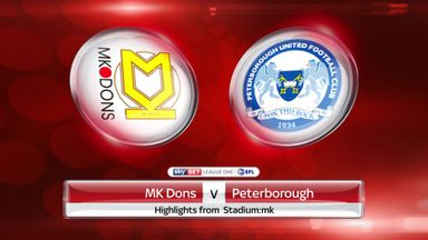 MK Dons 0-2 Peterborough