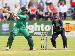 Sharjeel Khan in action for Pakistan
