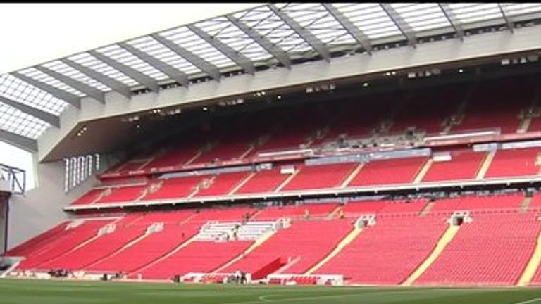 The newly redeveloped Main Stand at Anfield