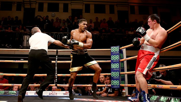 Anthony Joshua fought at York Hall early in his career