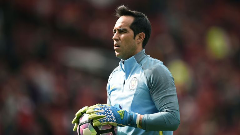 Bravo replaced Joe Hart as City's No 1 goalkeeper earlier this summer